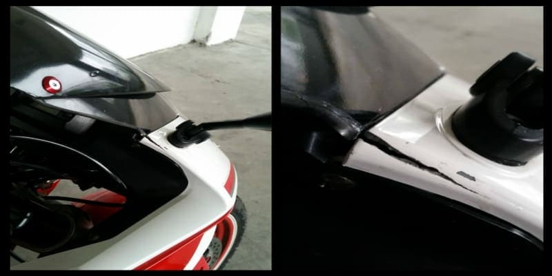 Hyosung Cracked Fairing Fix