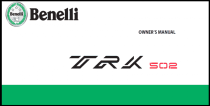 Benelli TRK 502 Owner's Manual