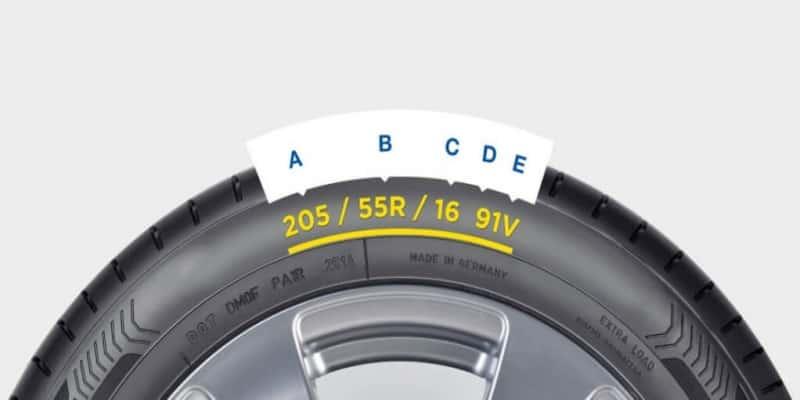 Tyre's sidewall information