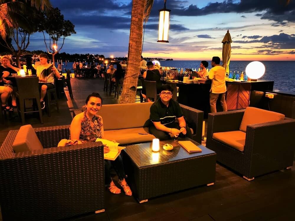 al-fresco sunset bar lounge area