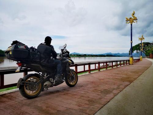 Overlooking mekong river at Chiang Khan