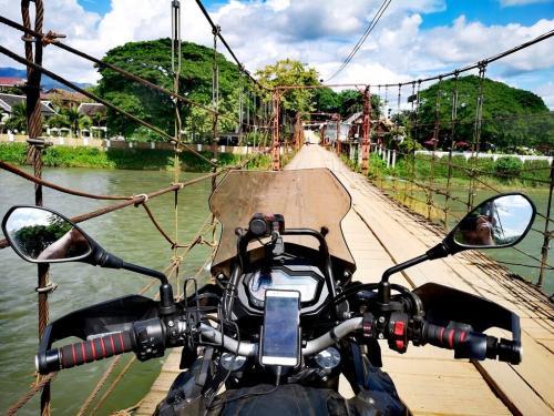 Wooden bridge, Laos